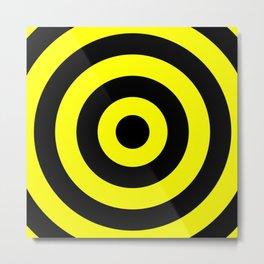 Target (Black & Yellow Pattern) Metal Print