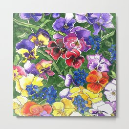 Pansies Metal Print