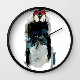 Poor Impulse Control Great Minded Brained Twins Wall Clock