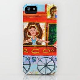 The Cabus of my Daughters' Circus Train El Cabus del Tren del Circo de mis Hijas iPhone Case