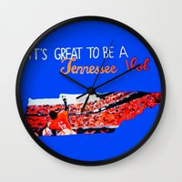 tennessee Wall Clocks featuring Tennessee Volunteers by megan matthews