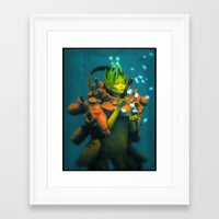 orchid Framed Art Prints featuring Orchid by Pascal Blanché