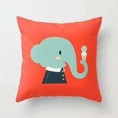 Mister Elephant Throw Pillow