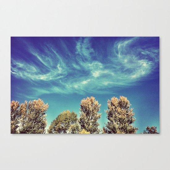 Swirly Clouds  Canvas Print