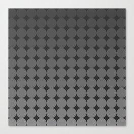 Blackk Circles Canvas Print
