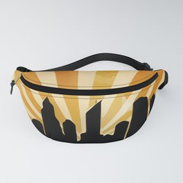 Comic Skyline Fanny Pack