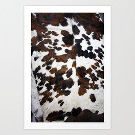 Cowhide Art Print