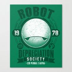 Robot Depreciation Society Canvas Print