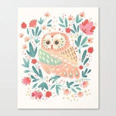 Little Pink Owl Canvas Print