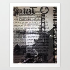 Golden Gate Bridge Text Collage Art Print