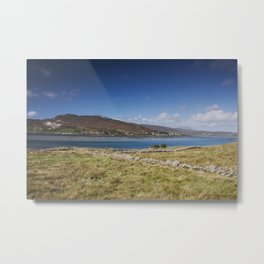 across the water from Glassillaun to Achill Island Metal Print
