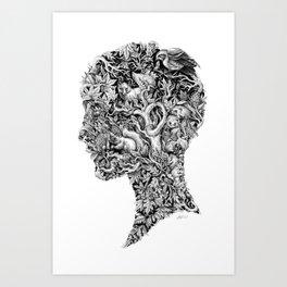 Portrait of Autumn Art Print
