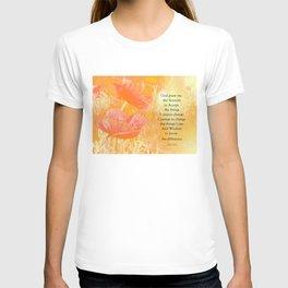 Serenity Prayer Orange Poppy Garden Glow T-shirt