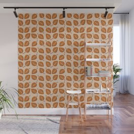 Bright Fall Leaves Pattern Wall Mural