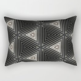 Triangles of Light Rectangular Pillow