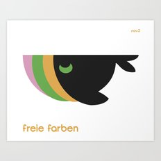freie farben Art Print