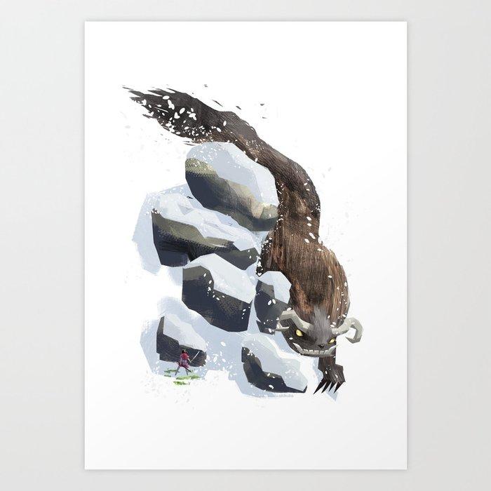 Winter & Spring Art Print