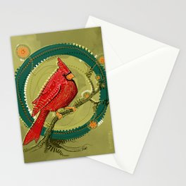 Cardinal Iris Stationery Cards