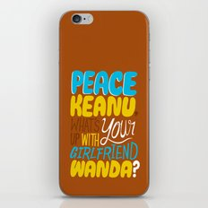 Peace Keanu iPhone & iPod Skin