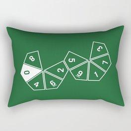 Unrolled D10 Rectangular Pillow