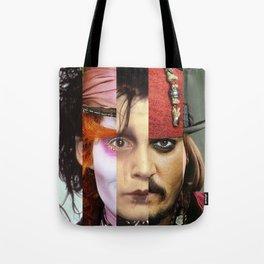 Faces Johnny Depp Tote Bag