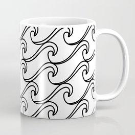Rough Sea Pattern - black on white Coffee Mug
