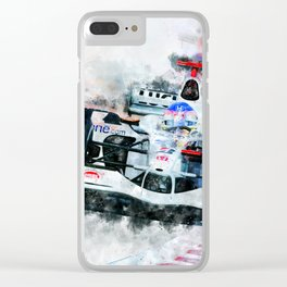 Jaques Villeneuve Clear iPhone Case