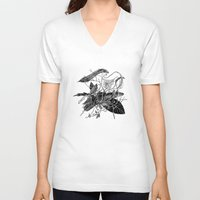 dream catcher V-neck T-shirts featuring Dream Catcher by brenda erickson