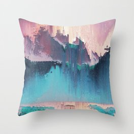 Glitched Landscapes Collection #3 Throw Pillow