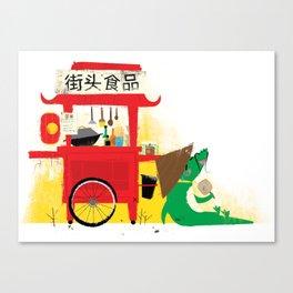 Wok Cart Canvas Print