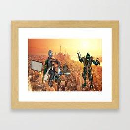 Defense of Planet Earth Framed Art Print