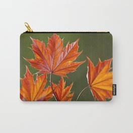 Abstract Maple Leaves Carry-All Pouch
