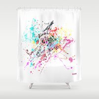 rome Shower Curtains featuring Rome by Nicksman