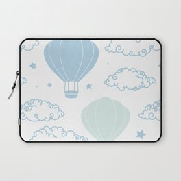 Cute Clouds and Hot Air Balloons in theSky Laptop Sleeve