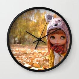 Honey - Autumn nature Wall Clock