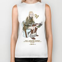 legolas Biker Tanks featuring That Awkward Moment by Pat Pot Designs