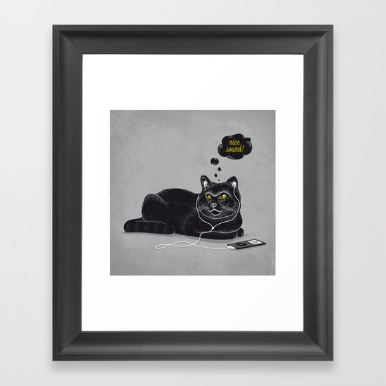 Chilling Cat Framed Art Print