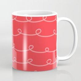Tomato Red Curlicues Coffee Mug