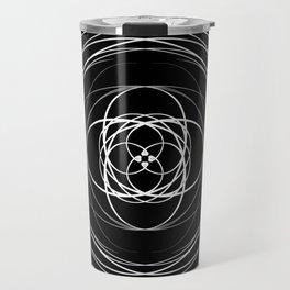 Black White Swirl Travel Mug