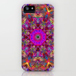 Red Palace Of Peace Mandala iPhone Case