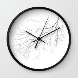 Mycelium (pencil drawing) Wall Clock