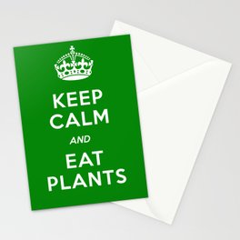 Keep Calm And Eat Plants Stationery Cards