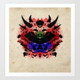 Rorschach Cacodemon   Textured Art Print