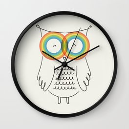 RainbOwl Wall Clock
