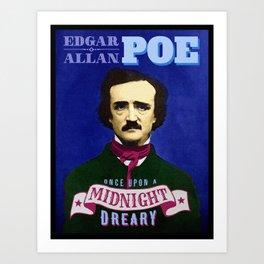 Edgar Allan Poe Raven Quote Portrait Art Print
