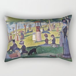 Georges Seurat -  A Sunday On La Grande Jatte -  1884 Rectangular Pillow