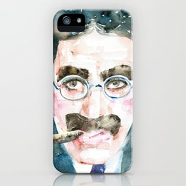 GROUCHO MARX - watercolor portrait iPhone Case