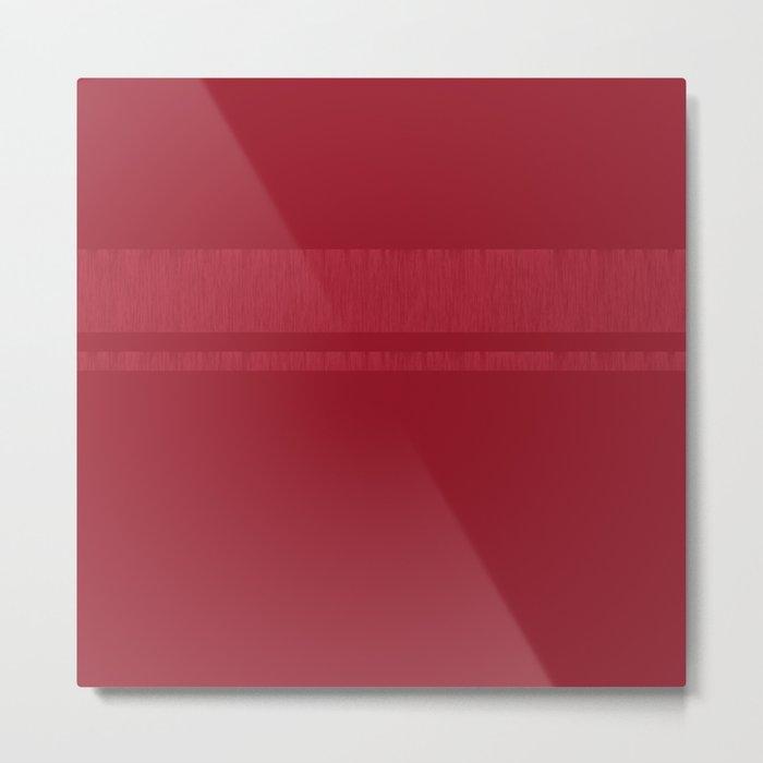 Minimalistic 3 - Raspberry Metal Print