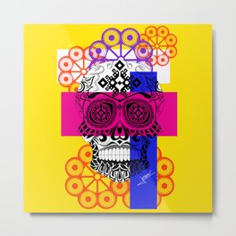 Death with a smile ecopop Metal Print