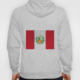 Extruded flag of Peru Hoody